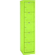 "Sandusky Welded Steel Color Lockers LF5H151866-38 - 15""W x 18""D x 66""H Electric Green"