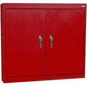"Sandusky Solid Door Wall Cabinet WA22361230-01 - 36""W x 12""D x 30""H Red"