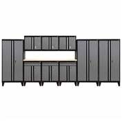 Sandusky® - 10 Pc. Modular Set Black Frame/Charcoal Doors - GS10 - 029L