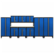 Sandusky® - 10 Pc. Modular Set Black Frame/Blue DoorS - GS10 - 069L