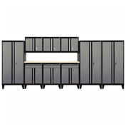 Sandusky® - 10 Pc. Modular Set Black Frame/Multi - Granite Doors - GS10 - M09L