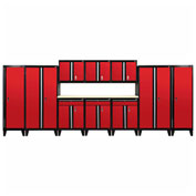Sandusky® - 11 Pc. Modular Set Black Frame/Red Doors - GS11 - 019L