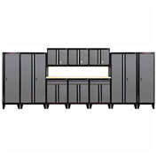Sandusky® - 11 Pc. Modular Set Black Frame/Charcoal Doors - GS11 - 029L