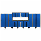 Sandusky® - 11 Pc. Modular Set Black Frame/Blue DoorS - GS11 - 069L