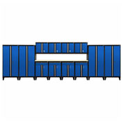 Sandusky® - 14 Pc. Modular Set Black Frame/Blue DoorS - GS14 - 069L