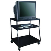 "Wide Body TV Monitor Carts - 40""Lx32-1/2""Wx44""H - Black"