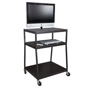 "Wide Body Flat Panel TV Cart - 32""Lx27-1/2""Wx44""H - Black"