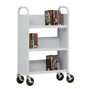 Sandusky® SL327 3-Shelf Single Sided Mobile Utility Truck 27x13 - Dove Gray
