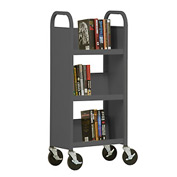 Sandusky® SL33017 3-Shelf Single Sided Mobile Utility Truck 17x13-Charcoal