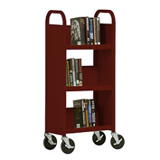 Sandusky® SL33017 3-Shelf Single Sided Mobile Utility Truck 17x13-Burgundy
