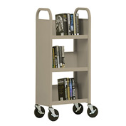 Sandusky® SL33017 3-Shelf Single Sided Mobile Utility Truck 17x13 - Sand
