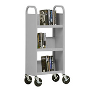 Sandusky® SL33017 3-Shelf Single Sided Mobile Utility Truck 17x13 - Gray