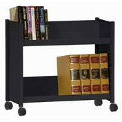 Sandusky® SR227 Single-Side Slanted 2 Shelf Book Cart 28 x 13 - Black