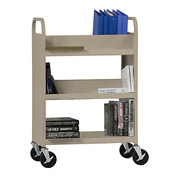 Sandusky® SVF336 Flat Bottom Shelf Steel Book Cart 37x18 - Tropic Sand