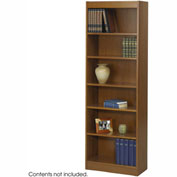 "6-Shelf Veneer Baby Bookcase, 24""W, Medium Oak"