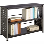 Safco® Scoot™ 2 Shelf Bookcase, Black