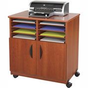 Safco® 1851CY Mobile Machine Stand with Sorter, Cherry