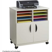 Safco® 1851GR Mobile Machine Stand with Sorter - Gray