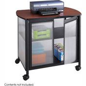 Safco® 1859BL Impromptu® Deluxe Machine Stand with Doors, Black