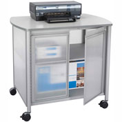 Safco® 1859GR Impromptu™ Deluxe Machine Stand with Doors - Gray
