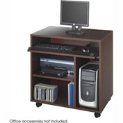 Ready-to-Use Computer Workstation - Mahogany