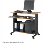 "Muv™ 35"" Fixed Height Workstation - Medium Oak"