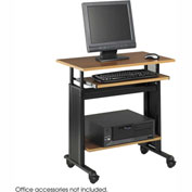 "Safco® 1925MO Muv™ 28"" Adjustable Height Workstation - Medium Oak"