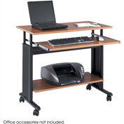 "Muv™ 35"" Adjustable Height Workstation - Medium Oak"