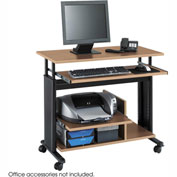 Safco® 1927MO Muv™ Mini Tower Adjustable Height Workstation - Medium Oak