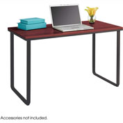 Safco® Steel Workstation, Cherry/Black
