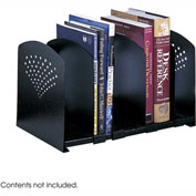 Five Section Adjustable Book Rack - Black