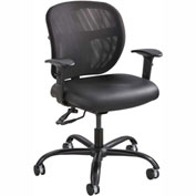 Safco® Vue™ Intensive Use Mesh Task Chair, Black Vinyl