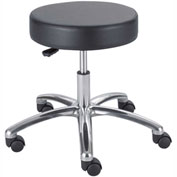 Safco Lab Stool - Vinyl - Pneumatic - Black