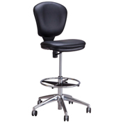 Safco® Metro™ Extended Height Chair - Black Vinyl