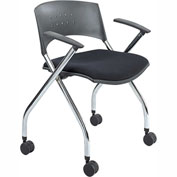 Mobile Nesting Chair (Qty. 2) - Black Fabric