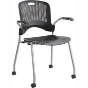 Safco® Sassy® Stack Chair, Black, 2/PK