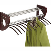 "36"" Wooden Wall Coat Rack With Hangers - Mahogany"