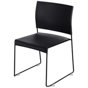 Safco® Currant Stack Chair - Black/Black Frame - 4 Pack