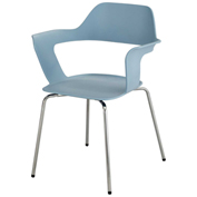 Safco® Bandi Stack Chair - Blue - 2 Pack