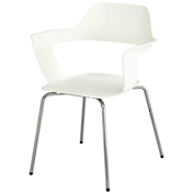 Safco® Bandi Stack Chair - White - 2 Pack