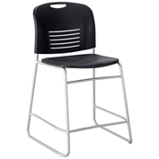 Safco® Vy™ Counter-Height Sled Base Chair - Black