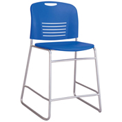 Safco® Vy™ Counter-Height Sled Base Chair - Lapis