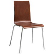 Safco® Bosk® Stack Chair - Cherry - 2 Pack