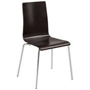 Safco® Bosk® Stack Chair - Espresso - 2 Pack