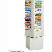 44 Pocket Steel Rotary Magazine Rack - Gray