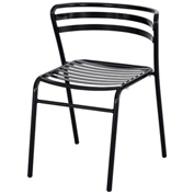 Safco® CoGo™ Indoor/Outdoor Steel Chairs - Black - 2 Pack