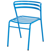 Safco® CoGo™ Indoor/Outdoor Steel Chairs - Blue - 2 Pack