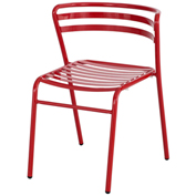 Safco® CoGo™ Indoor/Outdoor Steel Chairs - Red - 2 Pack