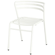 Safco® CoGo™ Indoor/Outdoor Steel Chairs - White - 2 Pack