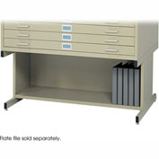 Safco Open Base for 5-Drawer Steel Flat Files - 20H - Fits 40-3/8  x 29-3/8  x 16-1/2 Files - Tropic